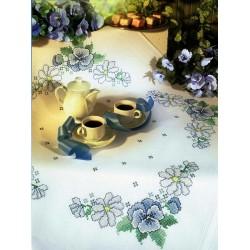 Καρέ σταμπωτό με λουλούδια