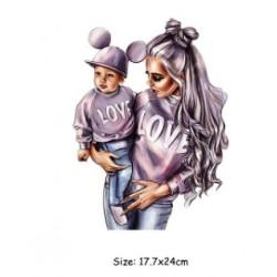 Στάμπα mum and girl
