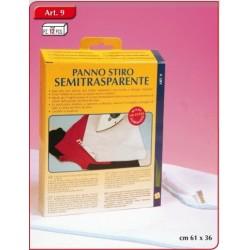 Semitransparent ironing cloth