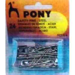 Silver coloured pins Sizes Νο0 to No4