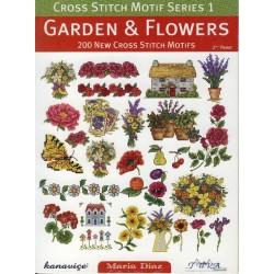Βιβλίο με σχέδια κεντήματος κήπος & λουλούδια