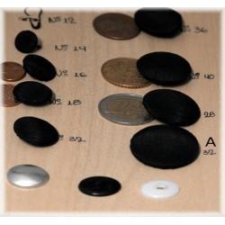 Ντύσιμο κουμπιών με ύφασμα