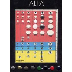 Πρεσσαριστά κουμπιά ALPHA