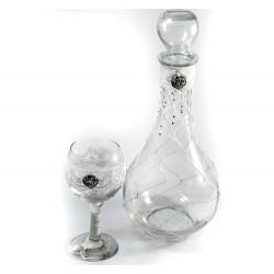 Καράφα με ποτήρι και στράς